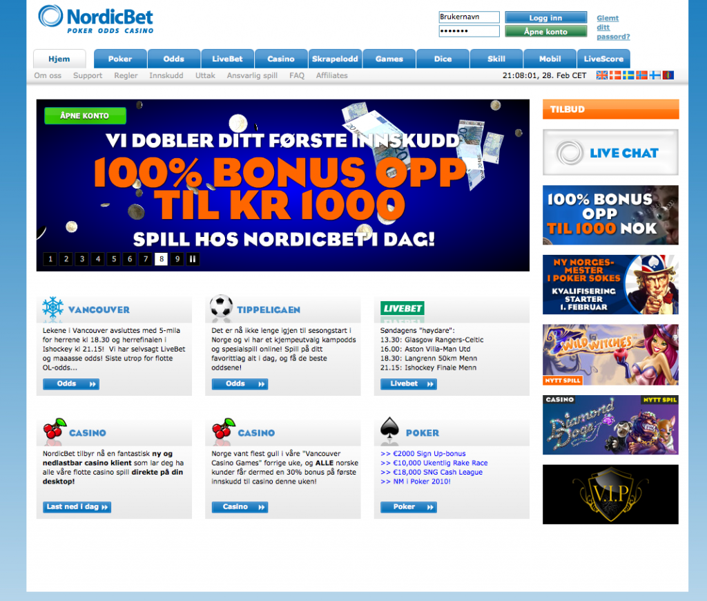 Quick facts about Nordicbet