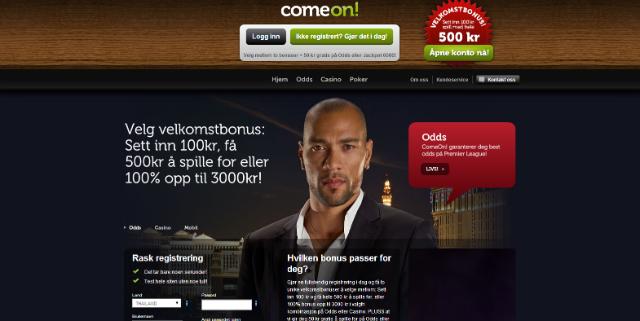 Comeon casino page