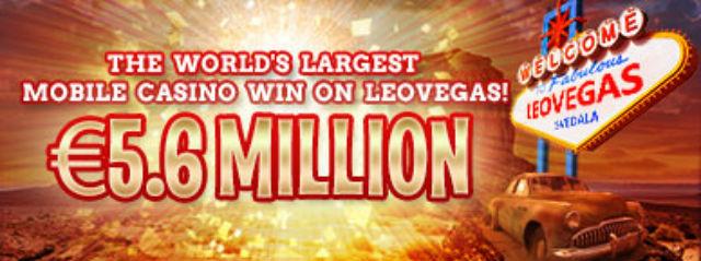 LeoVegas: Svenske vant 53, 6 millioner kr!