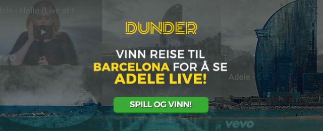 Bli med Dunder og opplev Adele Live i Barcelona