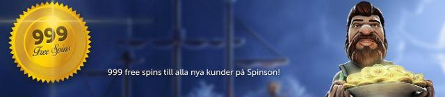Hos Spinson Casino kan du få opptil 999 freespins!